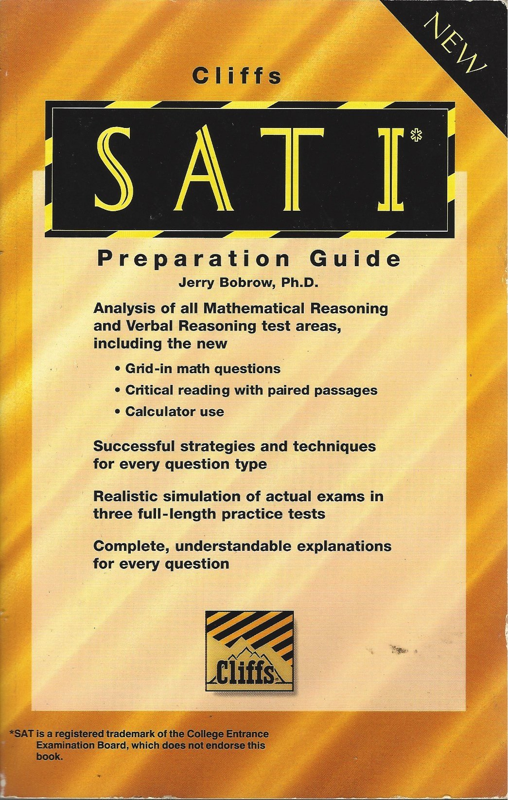 Cliffs Sat I Reasoning Test Preparation Guide: Jerry Ph.D. Bobrow:  9780822020745: Amazon.com: Books
