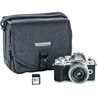Olympus OM-D E-M10 Mark III camera kit with 14-42mm EZ lens (silver) Camera Bag & Memory Card Wi-Fi enabled 4K video