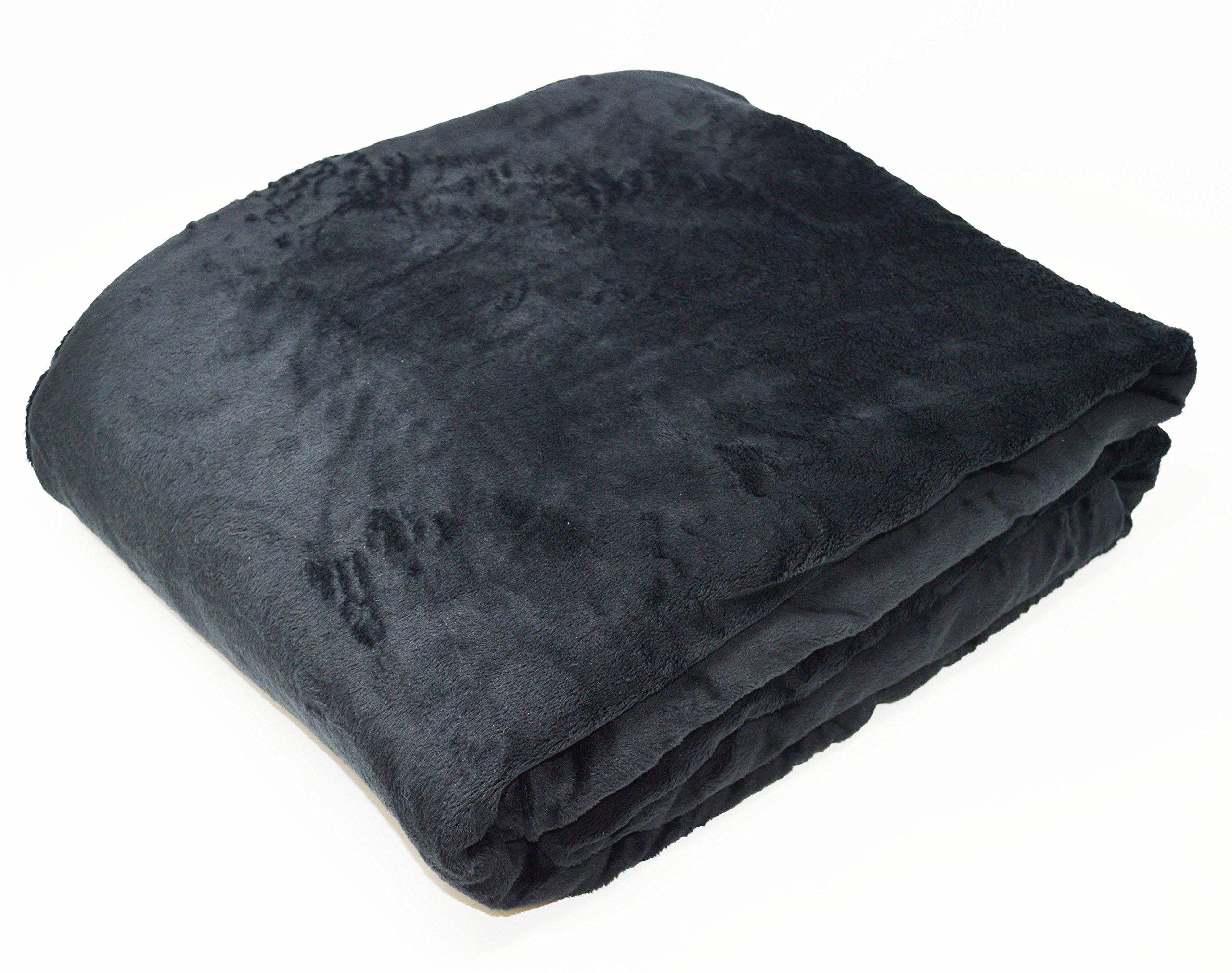 "KF Fabric Weighted Blankets Made in America (7lbs, 48""x30"") Black - Made with Softee Plush Fabric – Improve Your Sleep, Improve Your Life. Helps Calm You so You can Rest and Fall Asleep. by KF Fabric (Image #1)"