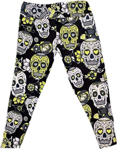 Workout Leggings for men White Skulls and Stars Men/'s Leggings Halloween Leggings All-over print Skull Leggings Black and White Pattern