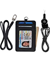 Slim Credit Card Holder Wallet ID Card Case Holder Leather Neck Wallet Purse