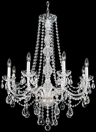 schonbek 130540h swarovski lighting arlington chandelier silver - Schonbek Lighting
