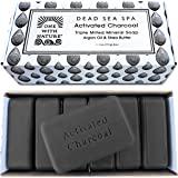 DEAD SEA Salt CHARCOAL SOAP, 4oz 6pk – Activated Charcoal, Shea Butter, Argan Oil. For Problem Skin, Skin Detox, Acne…