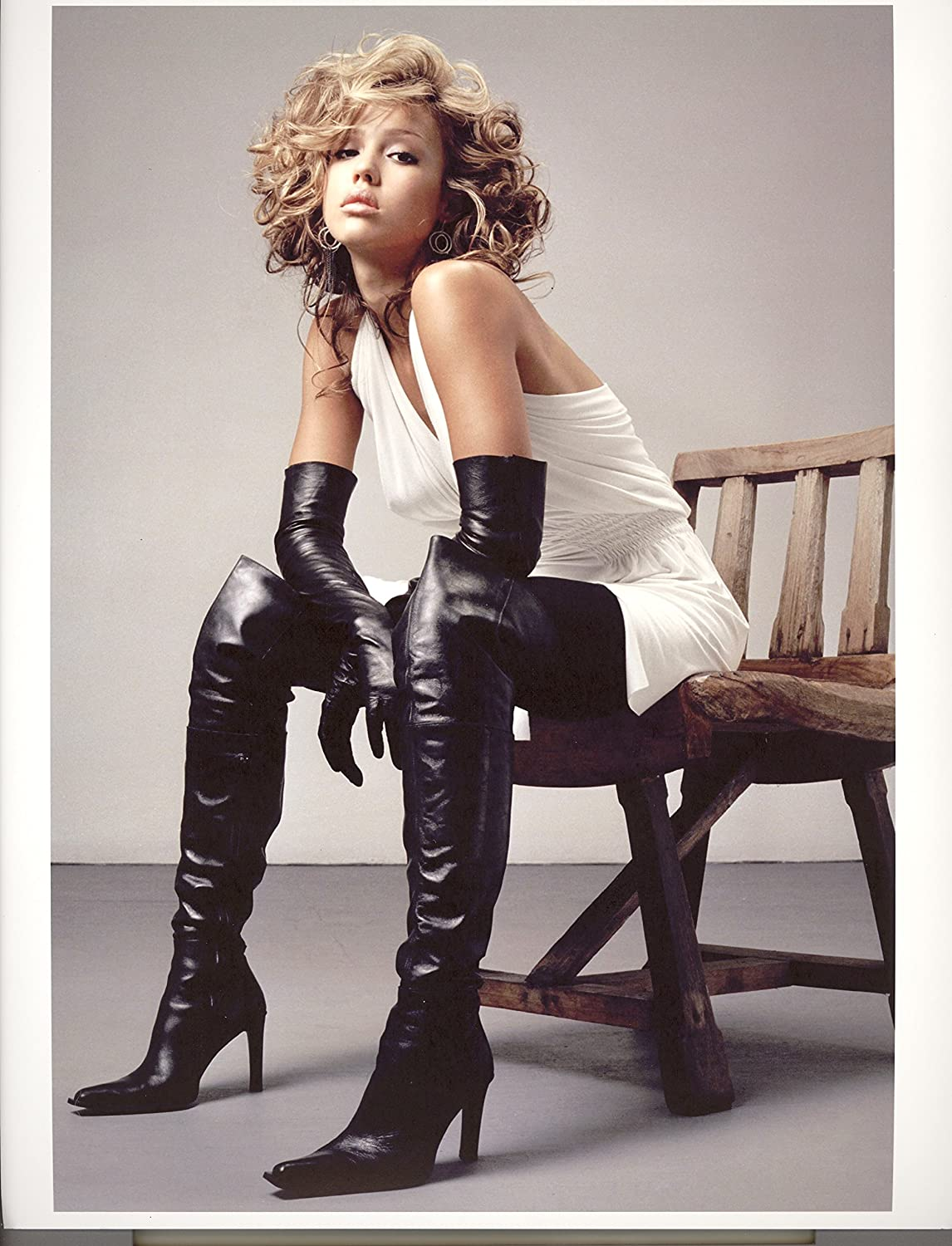 Jessica Alba leather thigh high boots and gloves (8 inch by 10 inch)  PHOTOGRAPH TL at Amazon s Entertainment Collectibles Store 1079159c9