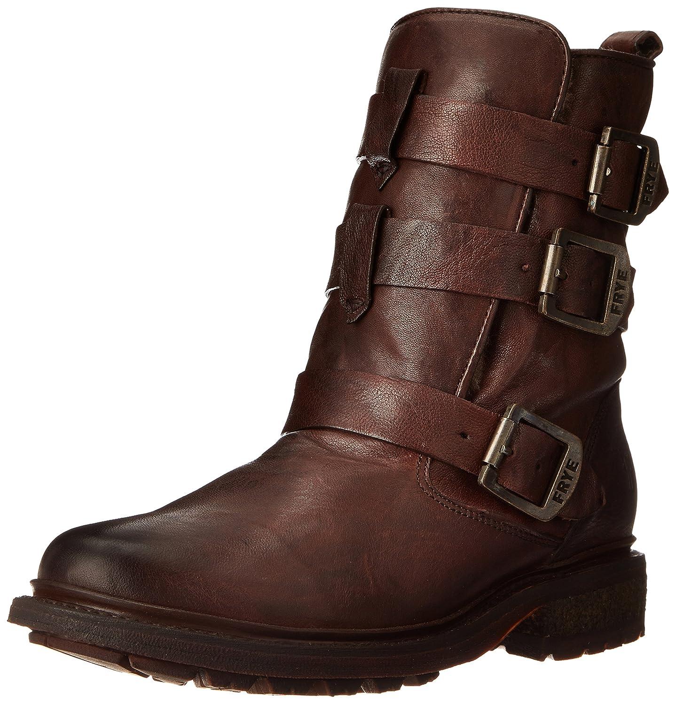 FRYE Women's Valerie Shearling Strappy Ankle Boot B00IMKJ1UU 6 B(M) US|Dark Brown-75008