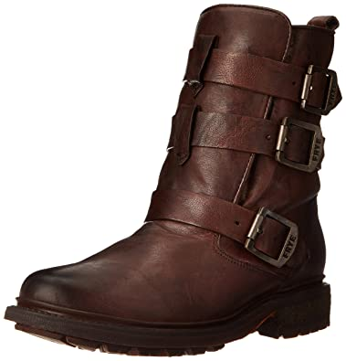 FRYE Womens Valerie Sherling Strappy Ankle Boot       Dark Brown
