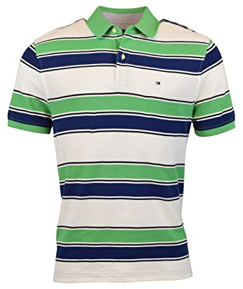fd9776371 Tommy Hilfiger Men s Regular Fit Performance Pique Cotton Polo Shirt - XS -  Green