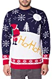 NOROZE Unisex Mens Ugly Naughty Knitted Christmas Jumper + Free HAT