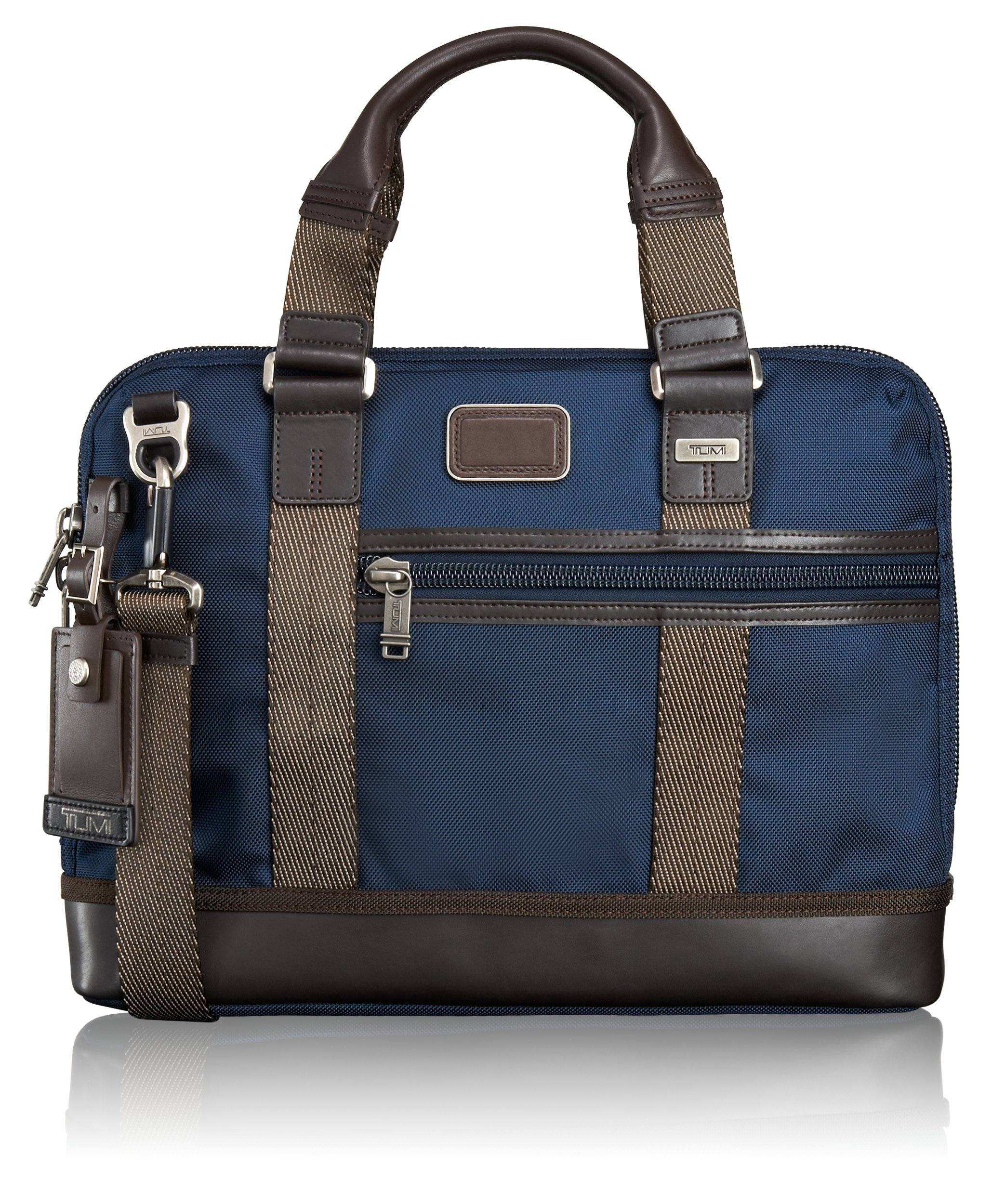 Tumi Alpha Bravo Earle Compact Brief, Navy, One Size