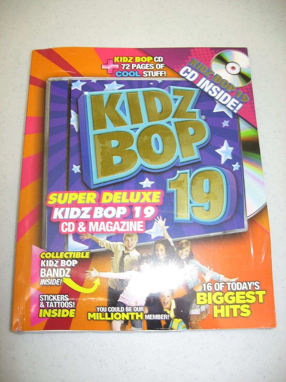 Kidz Bop 19 Super Deluxe Edition 16 Track Cd 72 Page Magazine Stickers Tattoos Amazon Com Music