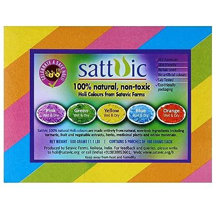 Sattvic Farms Natural Holi Color Powder (Gulal)