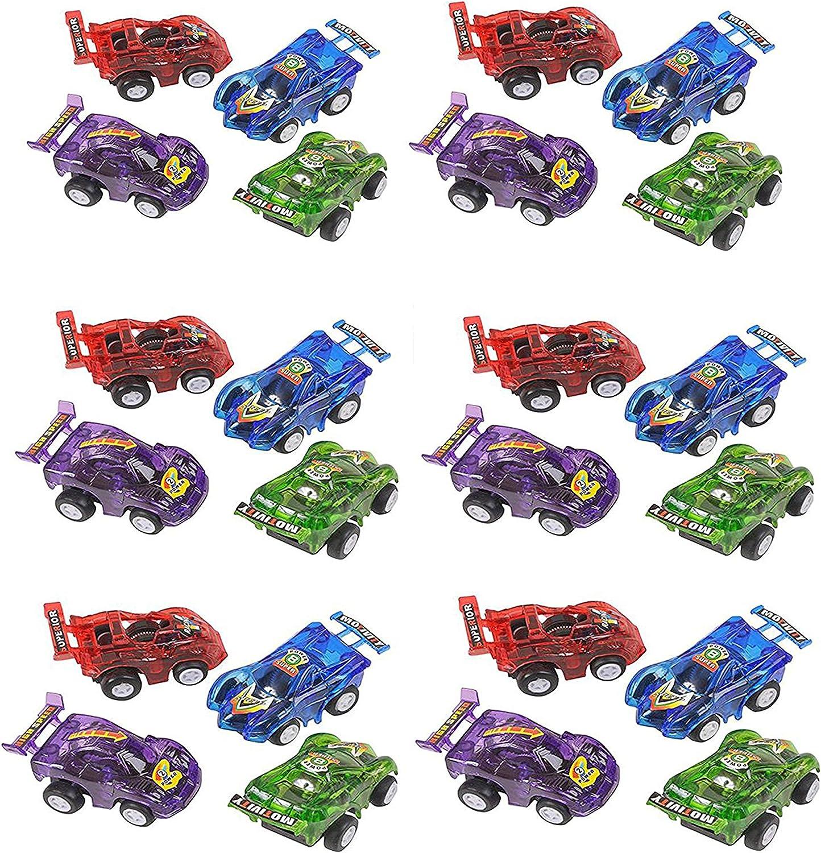 Amazon.com: Set de 24 autos de carrera con tracción ...