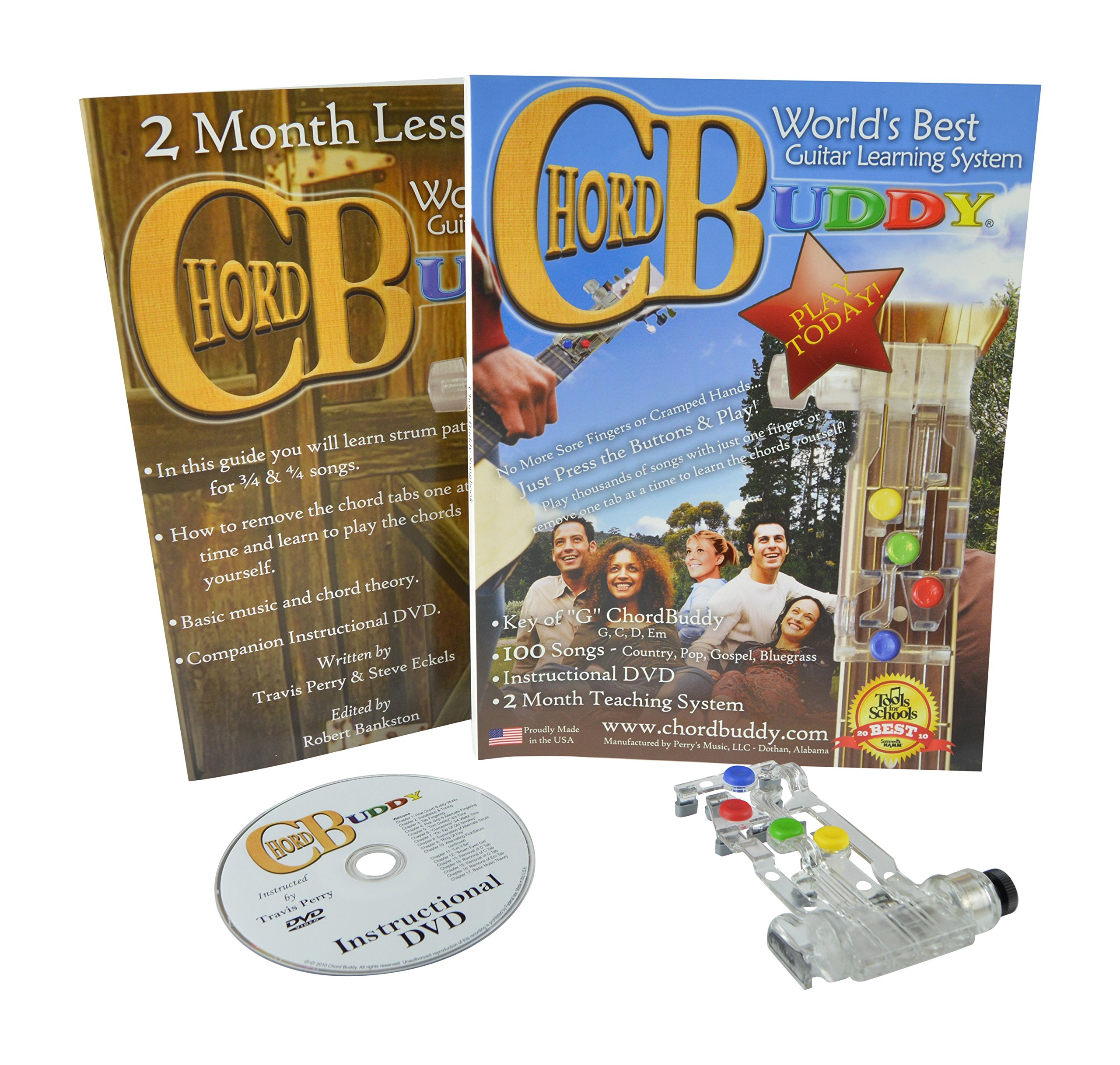 ChordBuddy Guitar Learning System for Right Handed Guitars. Includes ChordBuddy, 2 Month Lesson Plan DVD and Song Book by ChordBuddy
