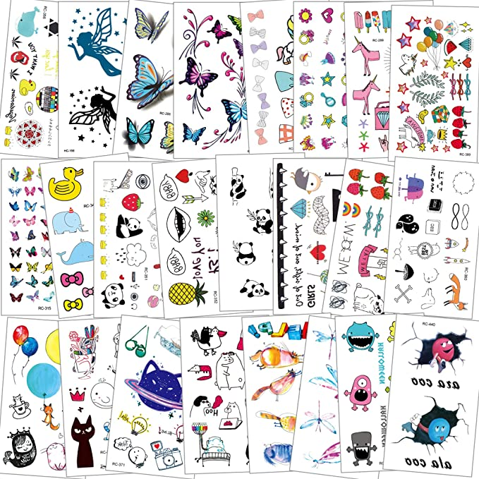 72 x Cats /& Dogs Temporary Tattoos Kids Girls Boys Party Bag Filler Toy