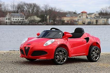 Amazoncom First Drive Alfa Romeo C Red V Kids Cars Dual Motor - Buy alfa romeo 4c