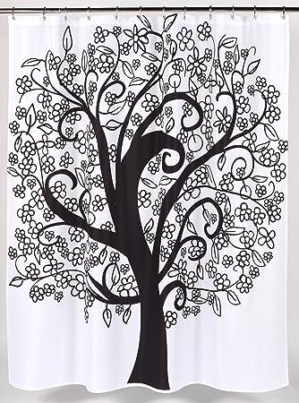 Charming U0026quot;Tree Of Lifeu0026quot; Fabric Shower Curtain