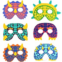 Dinosaur Foam Party Masks for Kids (6 Designs, 24 Pack)