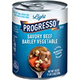 Progresso Low Fat Light Savory Beef Barley Vegetable Soup 18.5 oz Can (pack of 12)