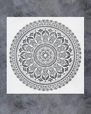 Mandalas for DIY Home Decor Mandala Stencils for Furniture Walls Stencils Better than Decals or Floors Mandala Stencil Prosperity