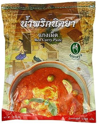 nittaya Curry Pasta, Rojo, 1er Pack (1 x bolsa de 1 kg)