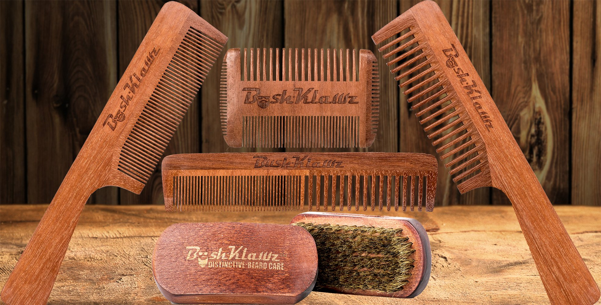 2Klawz Hair Comb for Men - Hair and Beard Comb with Wide and Fine Teeth Full Size 7'' Combination Comb - Best Man Comb Grooming Gift Special Gift For Mens comb Clark Kent Comb by BushKlawz (Image #4)