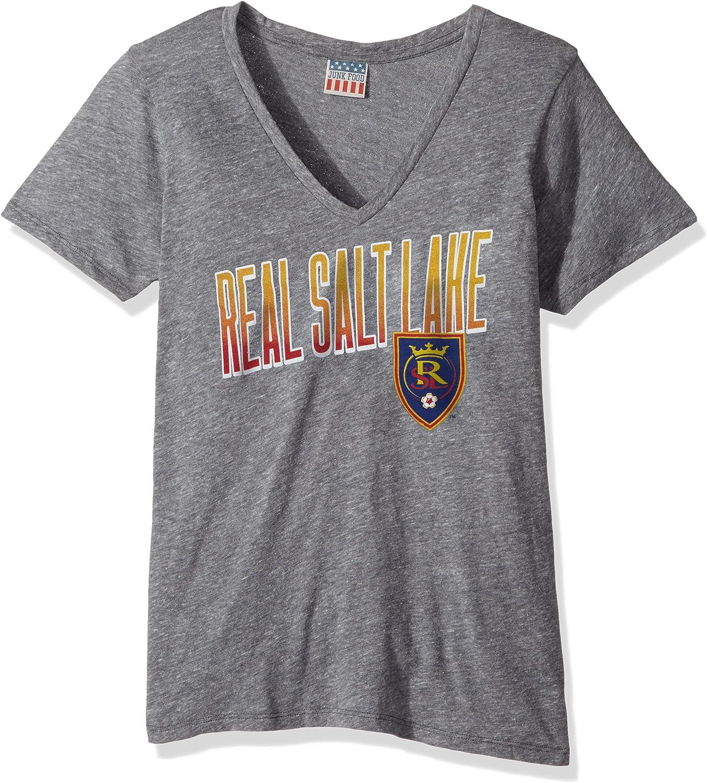 Junk Food Women's MLS Short Sleeve Tri-Blend Deep V-Neck Tee