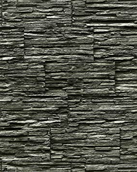 Papier peint quartzite ardoise en relief 1003-34 vinyle très ...