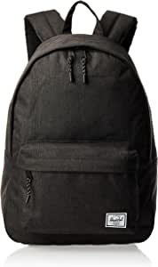 Herschel Classic Backpack, Black Crosshatch, One Size