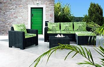 Allibert Lounge Mobel ~ Amazon.de: best 4 teilig lounge gruppe kenia graphit 68 x 199 x 72