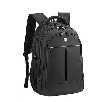 3263a2fdf1677 Ruigor ICON 87 – großer multifunktionaler Rucksack Tagesrucksack 30l  Wasserdichter Laptop Tasche 15 Zoll schwarzer Sportrucksack