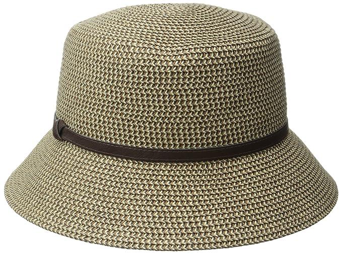 b54cb8391519cc Nine West Women's Packable Micro Brim Hat, Brown, One Size: Amazon ...