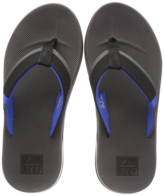 Reef Fanning Low Grey/Blue, Chanclas para Hombre 46 EU Multicolor (Grey/Blue Gbl)