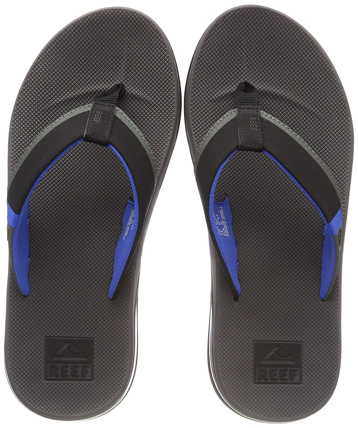 TALLA 42 EU. Reef Fanning Low Grey/Blue, Chanclas para Hombre