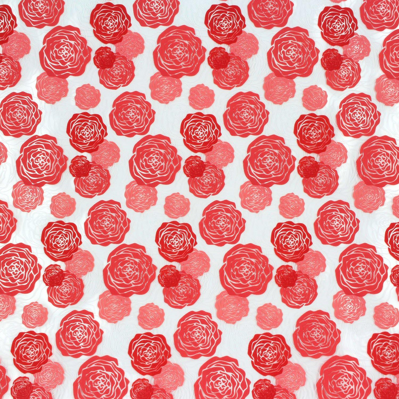 Chocolate Transfer Sheet, Dahlia Roses, 17 Sheets