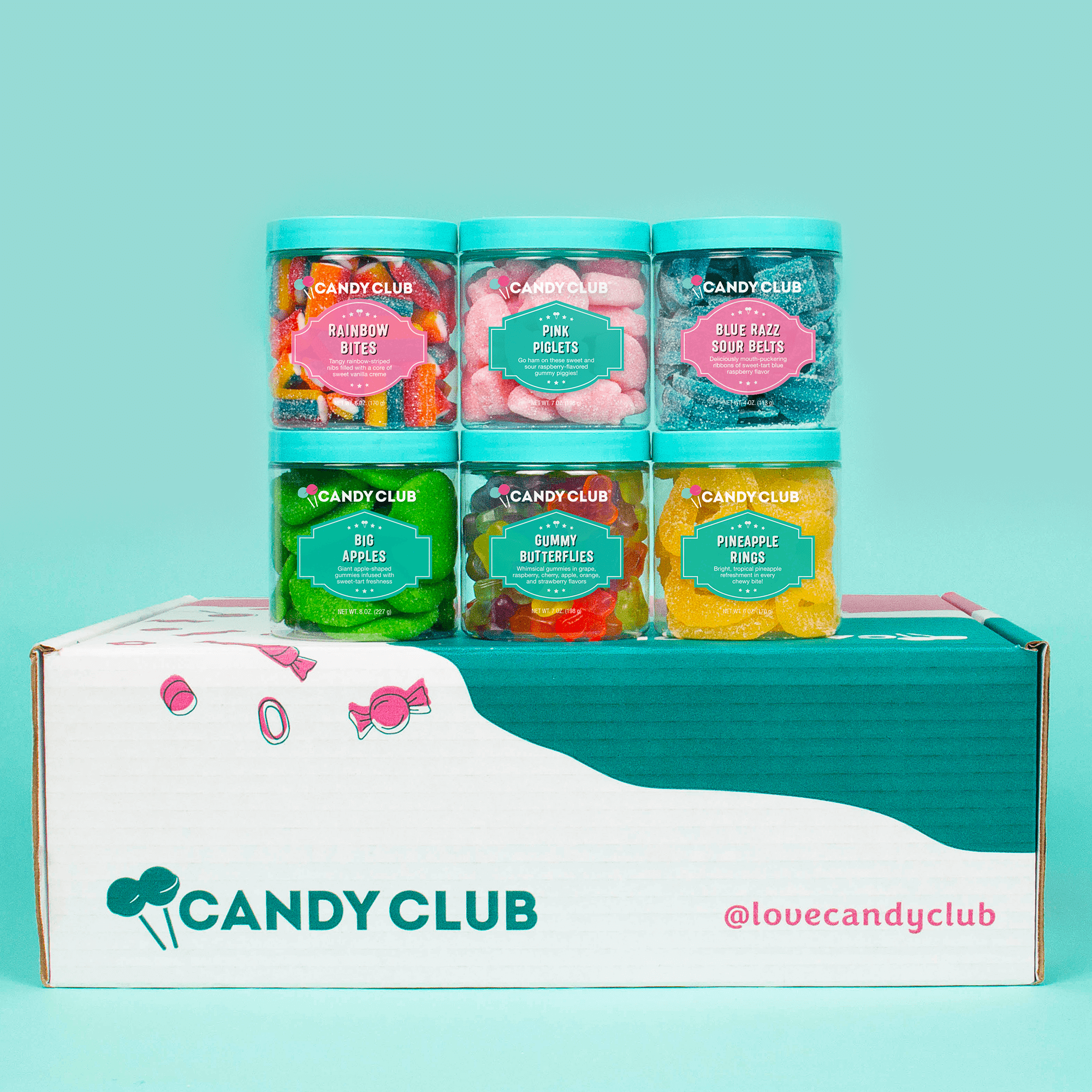 Candy Club - Delicious Premium Candies Subscription Box: Mostly Sours - Fun Pack -