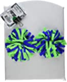 Pomchies POM-ID Luggage Tags: Pom Pom Keychain, Backpack Tags, Luggage Identifiers + Hair Bows - (2 Pack), Lime/Royal (Multi) - 8365