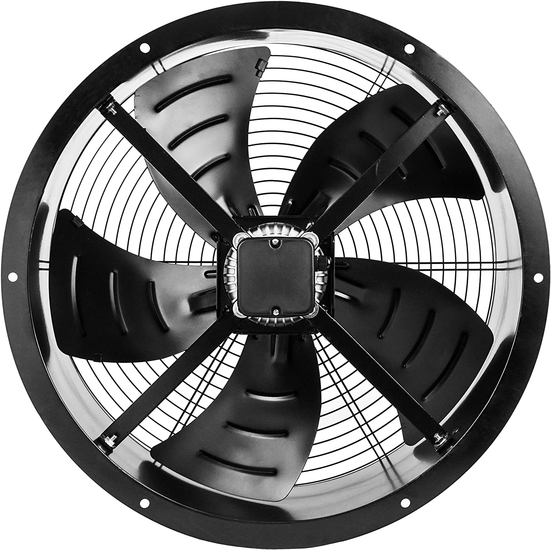 PrimeMatik KH015-VCES Extractor de Aire de Tubo de 600 mm para ventilación Industrial 1350 RPM Redondo 670x670x280 mm (KH015): Amazon.es: Jardín