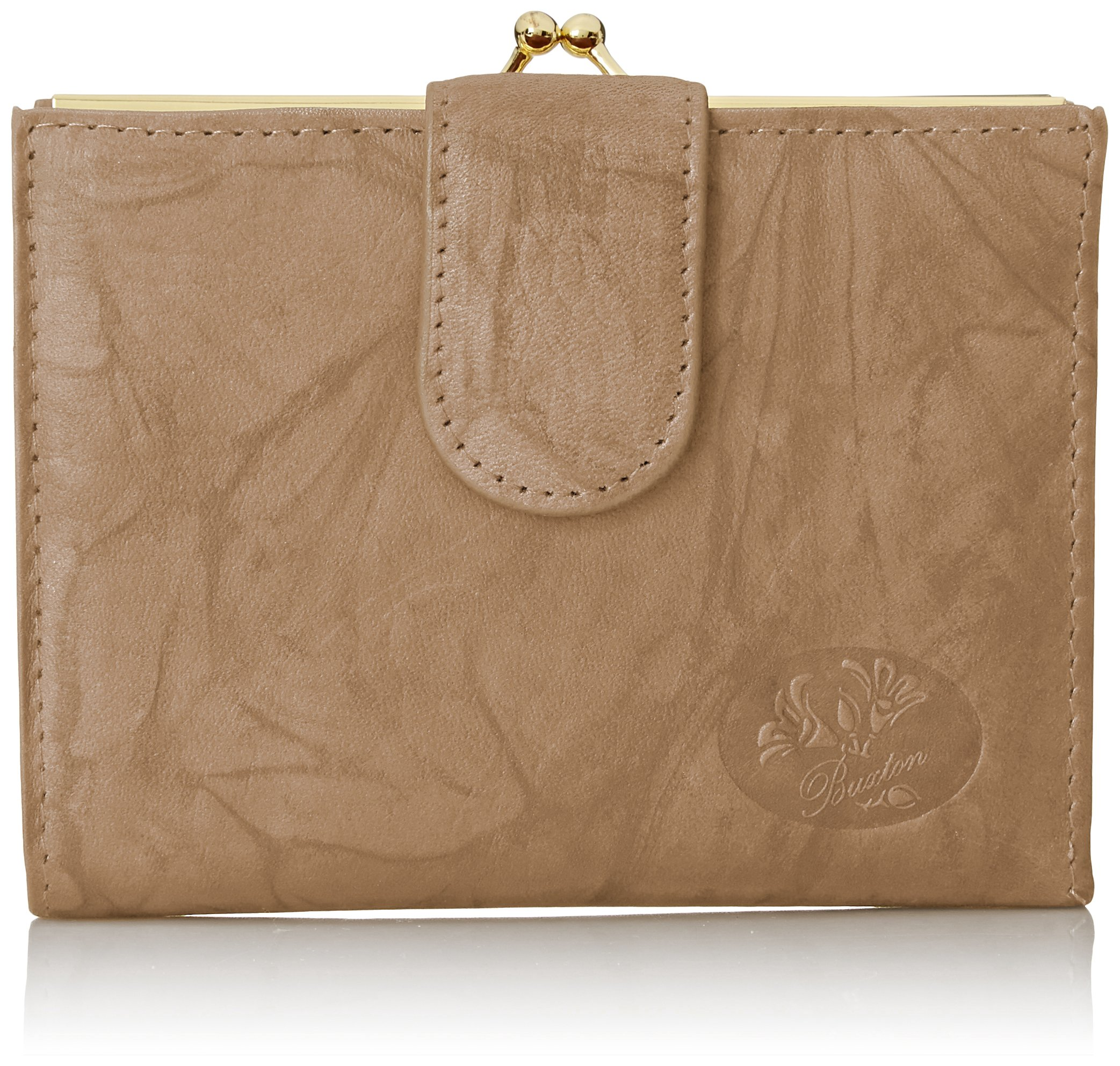 Buxton Heiress Double Cardex Wallet, Taupe, One Size