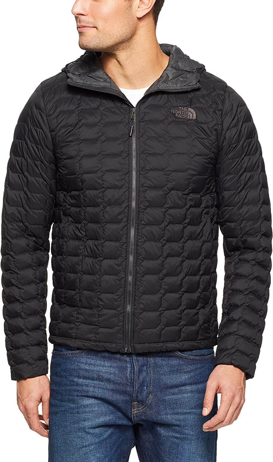 The North Face Men/'s Thermoball Matte Gray Jacket Coat Size Large