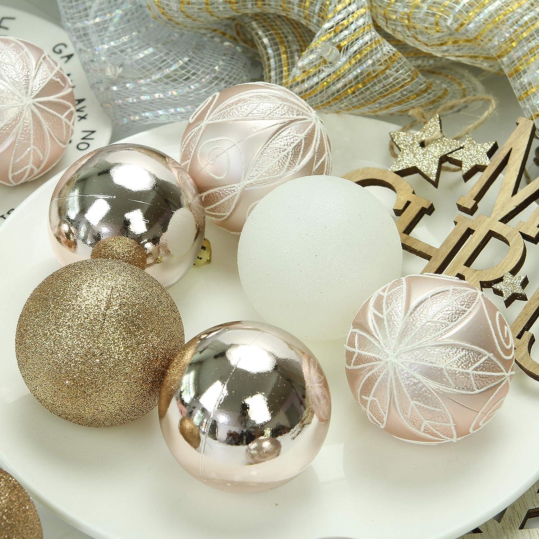 41 Piezas Sea Team 40mm//1.57 Set de Navidad Brillantes delicados artilugios Decorativos Pintado en Color de Contraste decoraci/ón de Bolas Colgantes de /árboles de Navidad