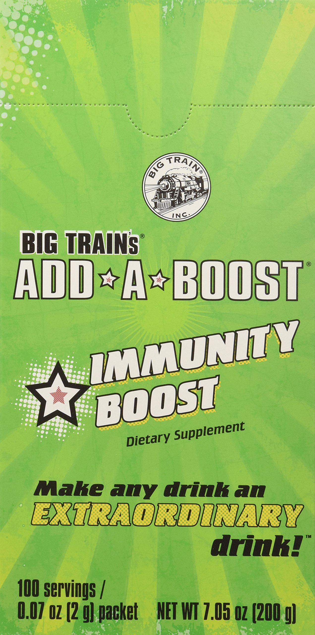 Big Train Add-a-Boost Immunity Dietary Supplement, 0.07 Ounce (Pack of 300)