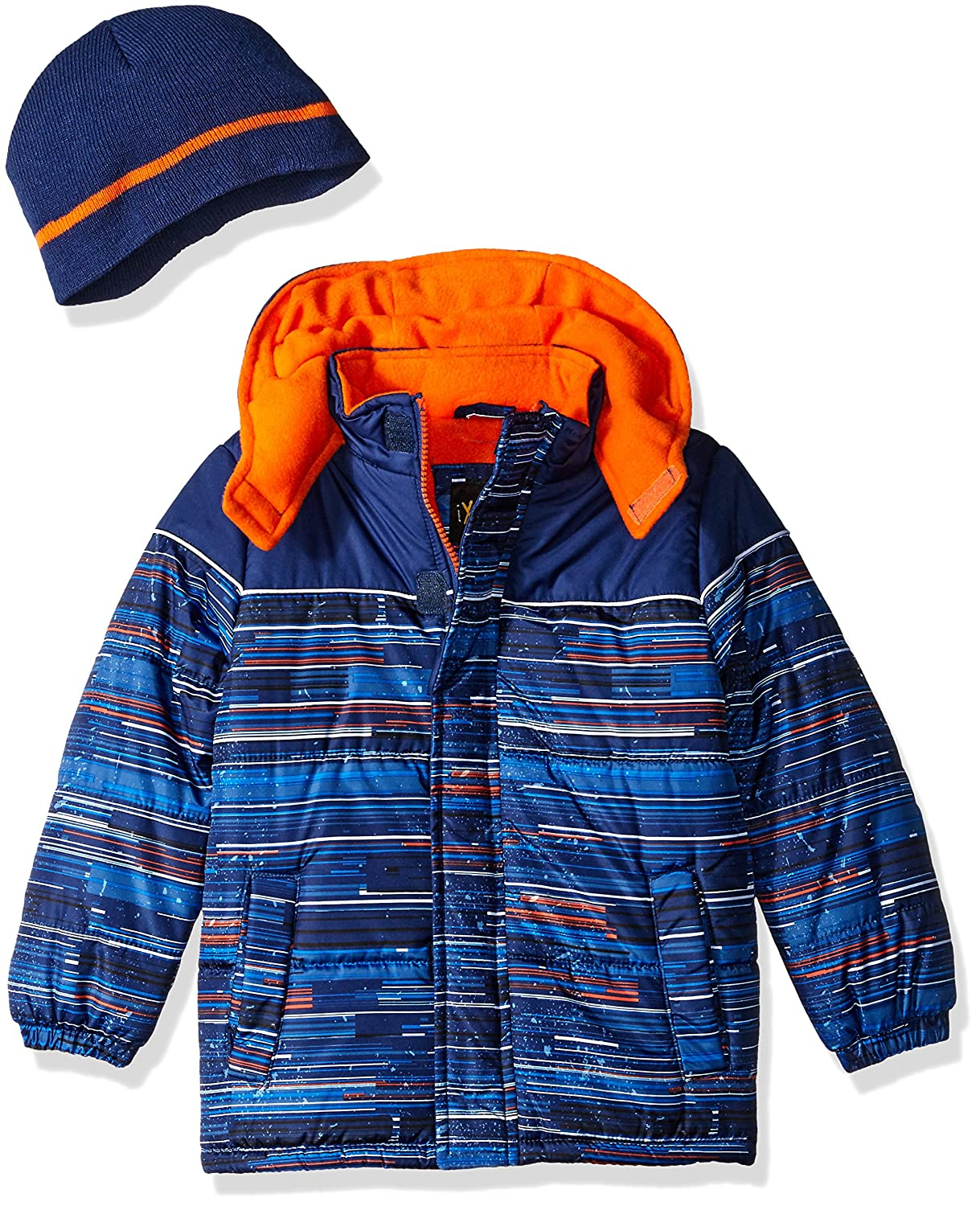 iXTREME boys Multi Square Print Gwp Puffer 74207