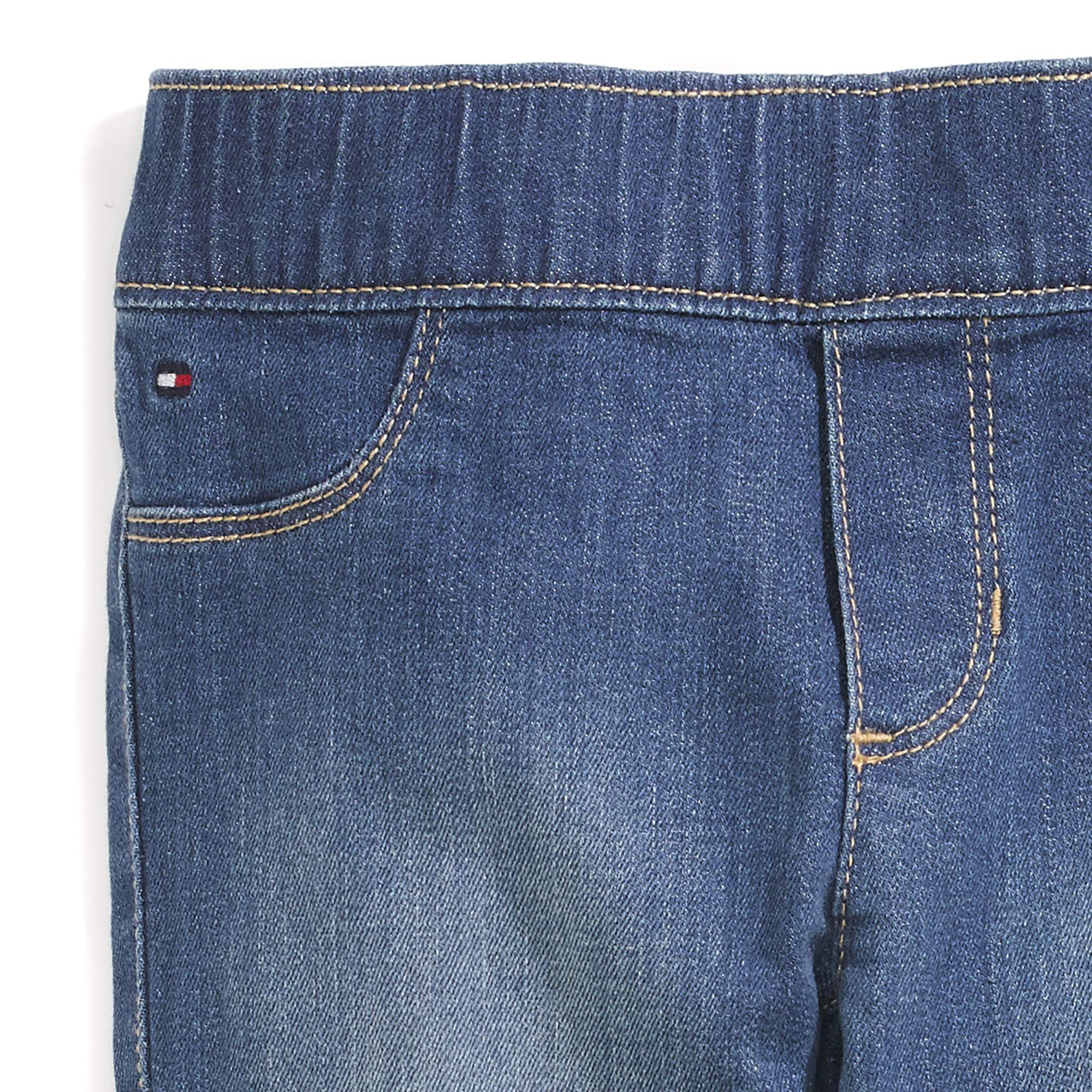 Tommy Hilfiger Girls' Adaptive Jegging Jeans with Elastic Waist and Adjustable Hems, KEITH wash 10 by Tommy Hilfiger (Image #3)