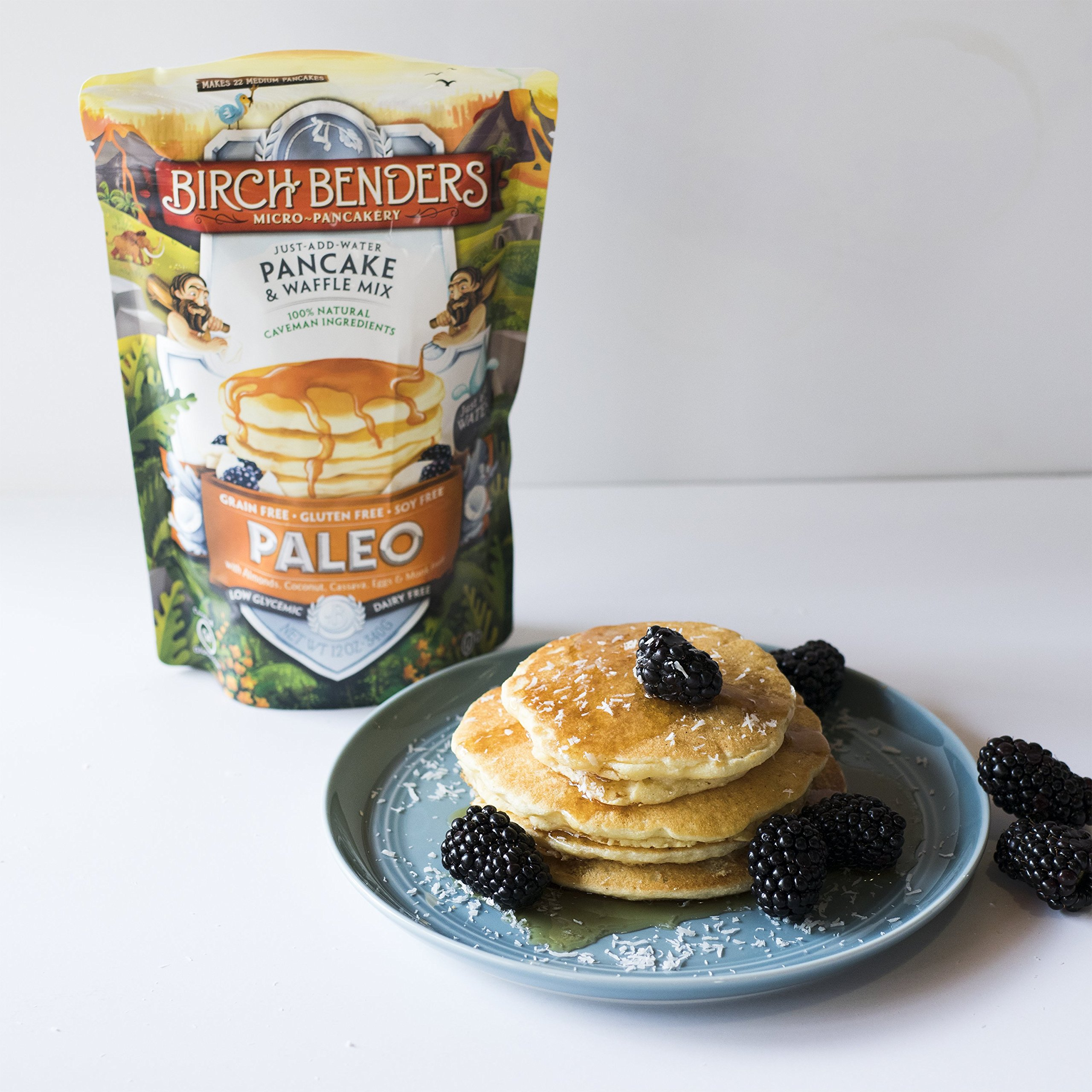 Paleo Pancake and Waffle Mix by Birch Benders, Low-Carb, High Protein, High Fiber, Gluten-free, Low Glycemic, Prebiotic, Made with Cassava, Coconut and Almond Flour, 3-pack (42oz each) by Birch Benders (Image #3)