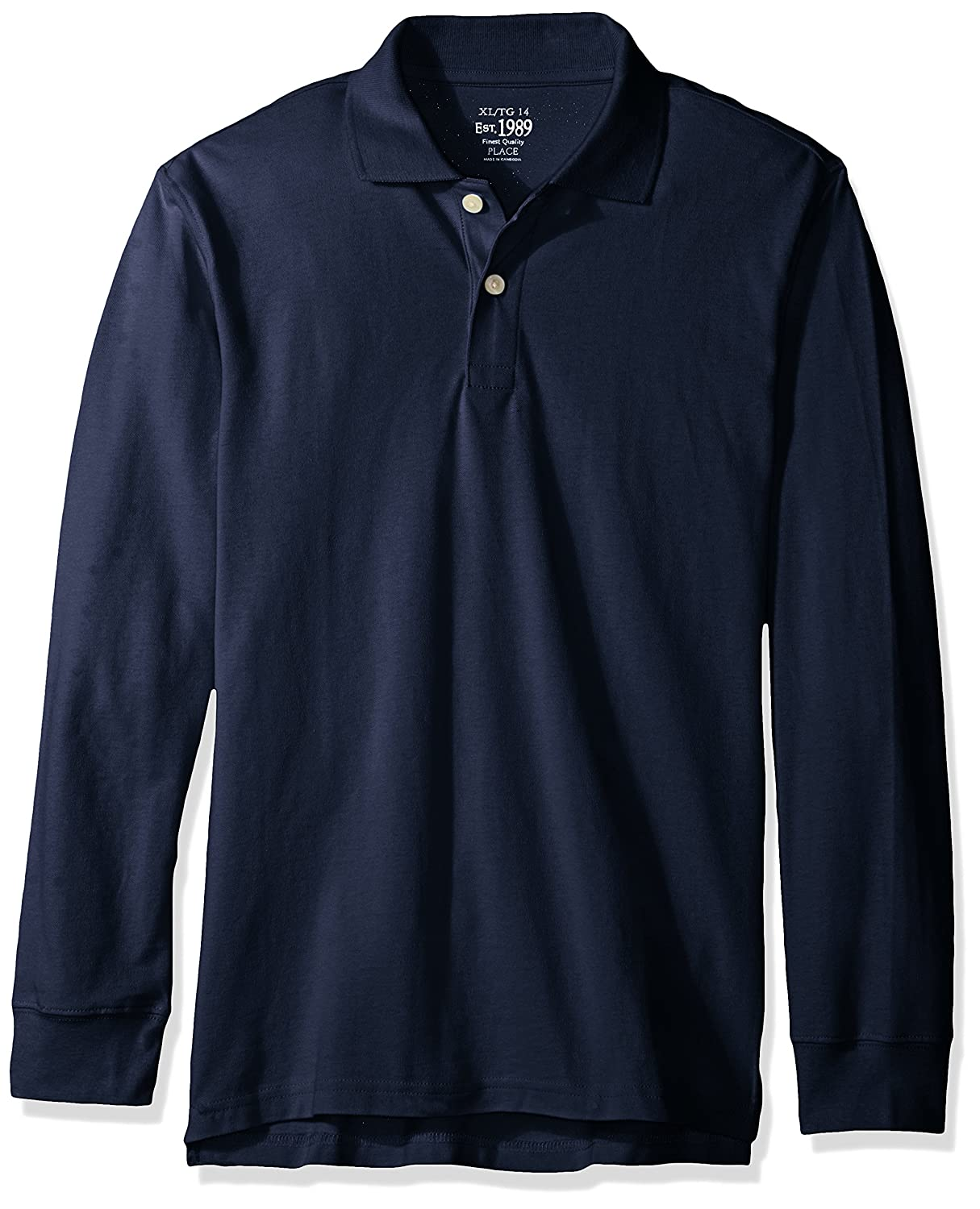 The Children's Place Boys' Long Sleeve Uniform Polo 2045101 2046341 2062134. 2062120