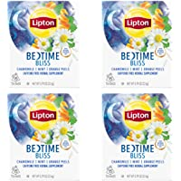 Lipton Herbal Supplement, Bedtime Bliss 15 ct, 0.79 oz, Pack of 4