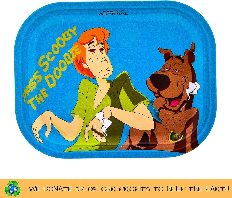 + Grinder 4 pi/èces Dont 3 Compartiments avec Filtre et Mini spatule 2 unit/é Plateau pour Rouler Petite Scooby The Doobie 18cm x 14cm RAW Classic Connaisseur Kingsize Kit pour Fumer du Tabac.