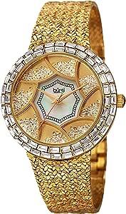 ساعة بورغي لؤلؤية للنساء بسوار من المعدن - BUR118YG