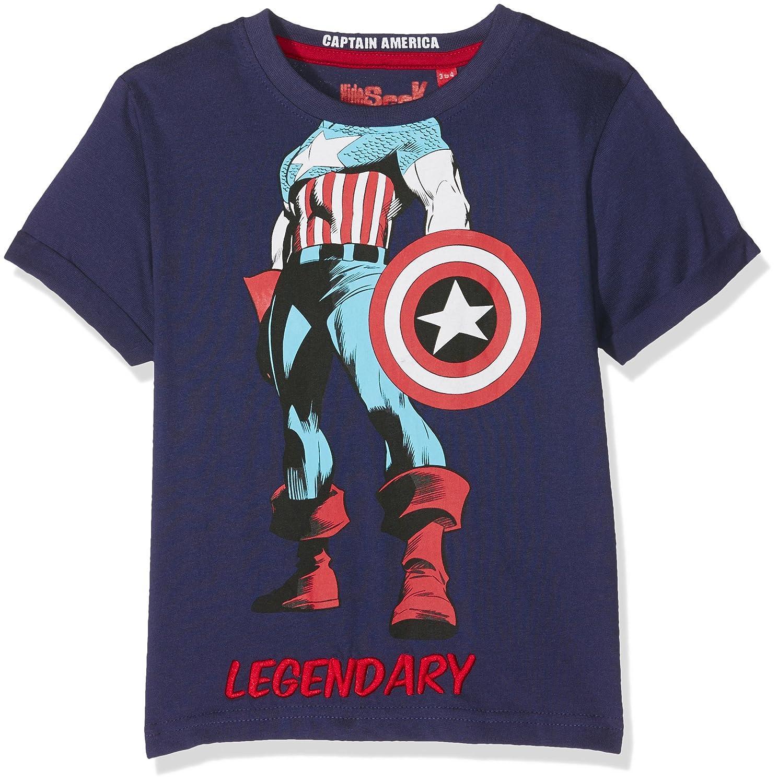 Captain America Boy's T-Shirt Hide & Seek HSCP02