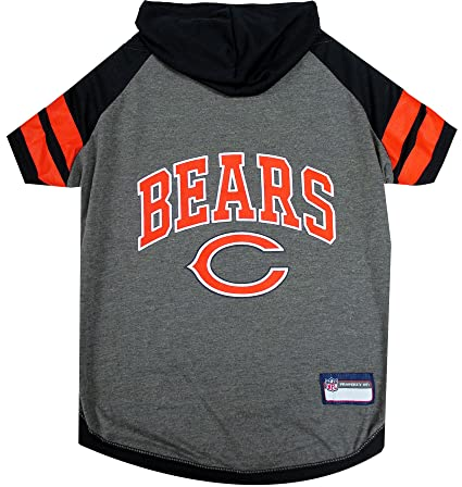 4868552ce8c9d8 NFL Chicago Bears Hoodie for Dogs & Cats. | NFL Football Licensed Dog Hoody  Tee